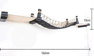HHXXTTXS Cama para Mascotas Puente deGato conCuerda GatoÁrbol Torre Casa Pared de Escalada ParedRascador Rascador deGatito Cama de Juguete Escalador de Madera Muebles para Mascotas