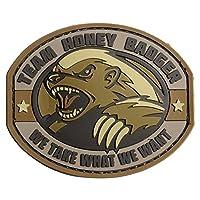 パッチ Honey Badger 刺繍(Desert)
