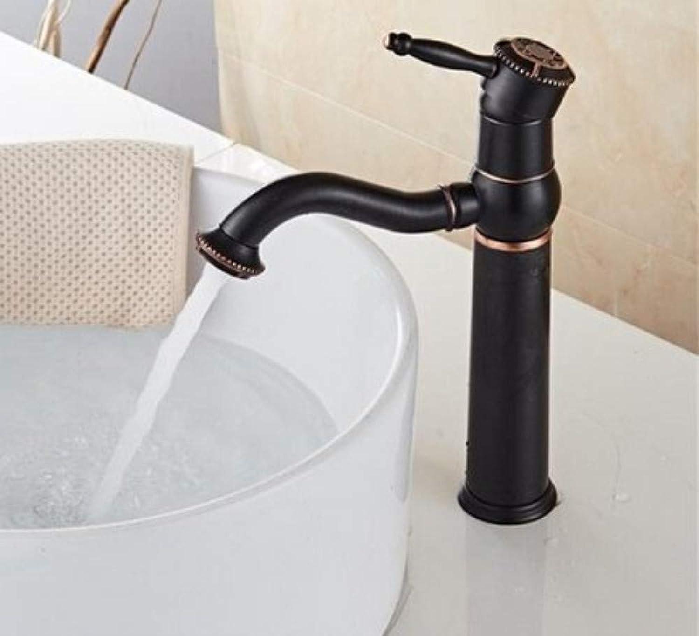 360 ° drehbarer Wasserhahn Retro Faucetantique Messing Badezimmer Wasserhahn Becken Hohe Kran Wasserbecken Wasserhahn Warmes und kaltes Wasserhahn