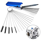 Valchoose Premium Jet Cleaning Brushes, Carb Carburetor Cleaners Made of Heavy Duty Density Nylon and Stainless Steel 13 Cleaning Wires Set + 5 Nylon Brushes + 10 Cleaning Needles