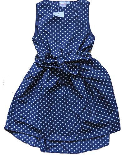 Topo Mädchen Kleid Dunkelblau mit weißen Punkten (152)