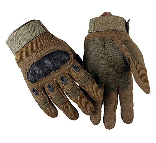 Schlegel タクティカル グローブ 手袋 サバゲー アーミー フルフィンガー バイク 自転車 アウトドア 登山 (タッチパネル対応 アーミーグリーンS)