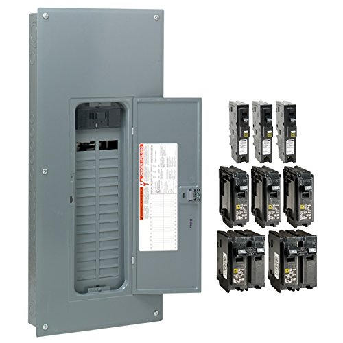 Square D by Schneider Electric HOM3060M200PCAFVP Homeline 200 Amp 30-Space 60-Circuit Indoor Main Breaker Load Center with Cover - Value Pack (Plug-on Neutral Ready),