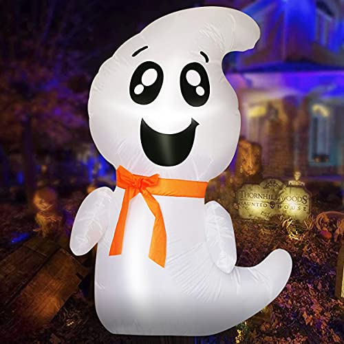 4FT Halloween Inflatables Outdoor Decorations - White Ghost...