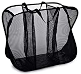 Three Compartment Popup Hamper - Durable Mesh Material, Folds for Storage, Handles to Carry Easily...