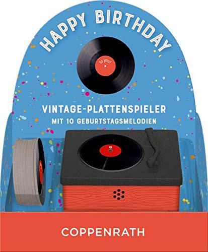 Vintage-Plattenspieler - Happy Birthday: Vintage-Plattenspieler mit 10 Geburtstagsmelodien