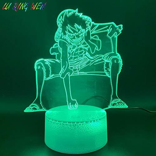 Sanzangtang Led-nachtlampje, 3D-vision-zeven, kleuren-afstandsbediening, nachtlampje, personaliseerbaar, hoofddecoratie, lichte basis, kleurverandering, kindernachtlampje, verjaardagscadeau, kindernachtlampje