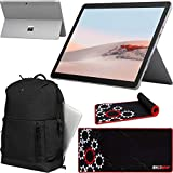 """Microsoft Surface Go 2 10.5"""" Touch Screen Tablet STQ-00001 8GB RAM 128GB SSD Solid State Drive Platinum w/Intel Pentium Gold 4425Y Bundle with Victorinox Laptop Backpack + Deco Gear Desktop Blotter"""