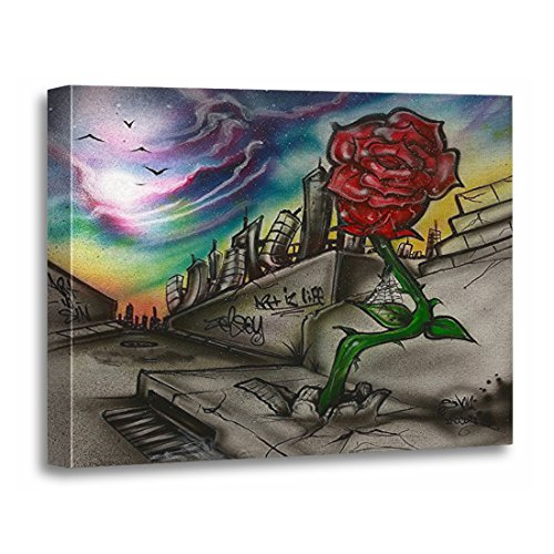 TORASS Canvas Wall Art Print 203 Rose That Grew from Concrete 420 Artwork for Home Decor 12' x 16'