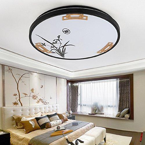 Waineg Moderna Led Plafoniera rotonda Creativo Camera da letto Soggiorno antico soffitto luminoso Bar ristorante luci decorative Diametro 26cm, luce bianca