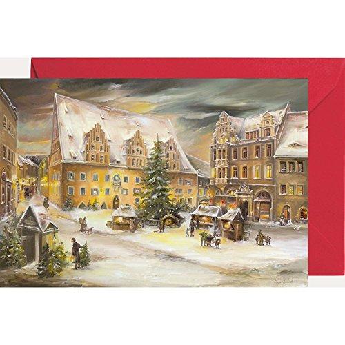Ansichtskarte mit Adventskalender ''Rathaus Meißen''