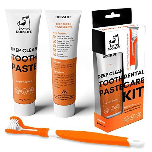 Spazzolino da Denti per Cane con Dentifricio   Kit Dentale per Cani Approvato   Spazzolino da Denti per Pulizia Profonda…