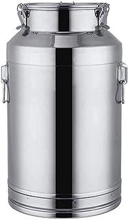 Boite Alimentaire 304 en acier inoxydable alimentaire contenants avec couvercles étanches, bidons de lait seau à vin Pail ...
