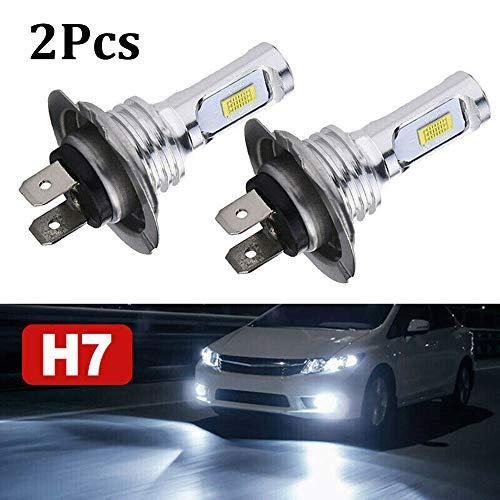 HELLOGIRL 1 par H7 Kit de bombillas de faros LED Luz intermitente de silicona Indicador LED Lámpara de cristal de alta potencia 55W 8000LM
