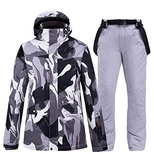 Ski Suit Ski Suit Ski Jacket voor heren, warm winter, met bretels, ski, winddicht, warm, outdoor, waterdicht