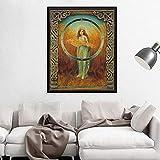 ganlanshu Pintura sin Marco La Diosa Romana de la fertilidad y la Agricultura de Gusin, póster de Arte de Pared, Mito de la Diosa del Arte pagano ZGQ2174 40X50 cm