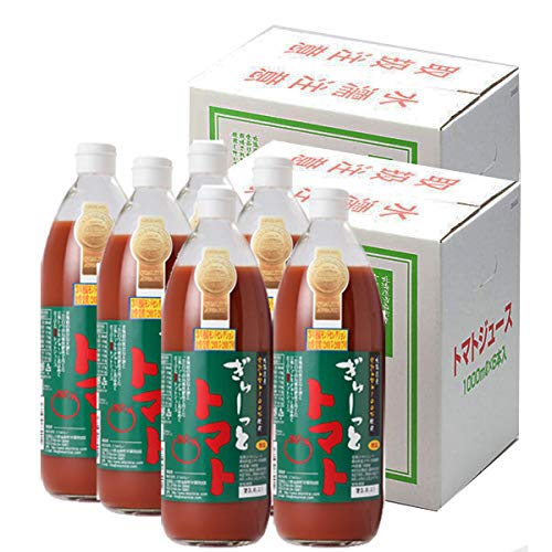 トマトジュース 食塩無添加 国産 トマトジュース 北海道産 ぎゅーっとトマト 無塩 1000ml 12本 北海道 当麻産 とまとじゅーす 送料 無料 エコみらい