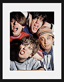 Stick It On Your Wall The Stone Roses - Group Pic (White Mount) Framed Mini Poster - 44x34cm