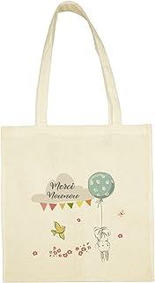 SB17 Tote Bag Lapin Tête en Bas Merci Nounou personnalisable, cadeau Nounou, sac Nounou, tote bag personnalisé, sac réutil...