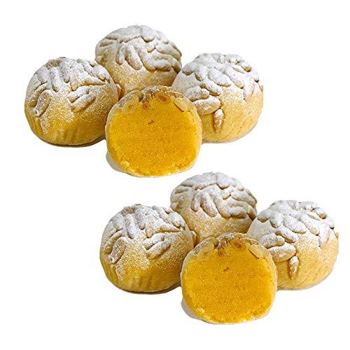 Boliñones süße Pinienkerne - Schachtel mit 9 Stück - Hergestellt in Medina Sidonia - Nichte von Las Trejas (2 Schachtelen)