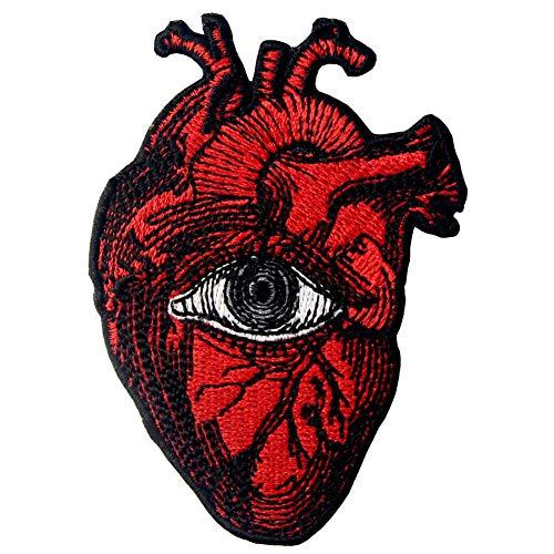 Parche termoadhesivo para la ropa, diseño de Todo ojo que ve en el corazón