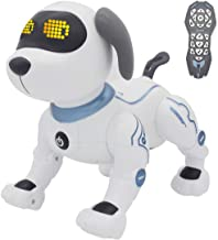 fisca Remote Control Dog, RC Robotic Stunt Puppy Toys Handstand Push-up Electronic Pets..