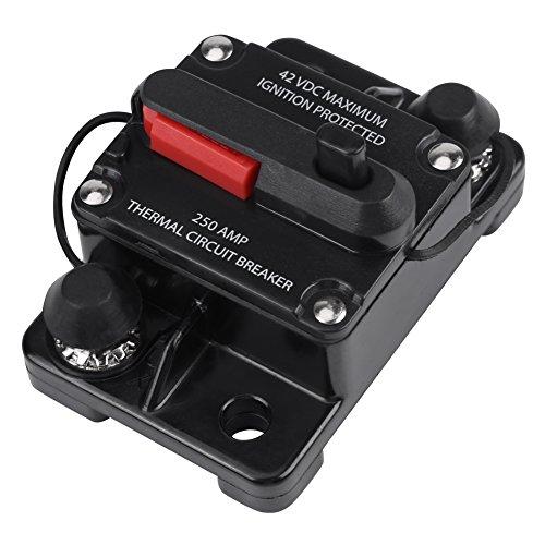 Auto Audio Leitungsschutzschalter 50A 80A 100A 150A 200A 250A (optional) DC12V-42V Inline Schutzschalter für Autoradio(250A)
