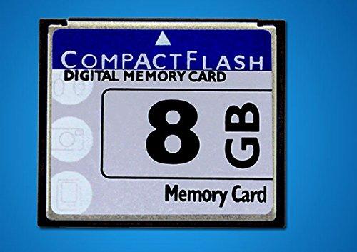 TOUYOUIOPNG - Tarjeta de Memoria Compact Flash CF (1 Unidad, 42,8 x 36,4 x 3,3 mm, 8 GB), Color Blanco y Azul