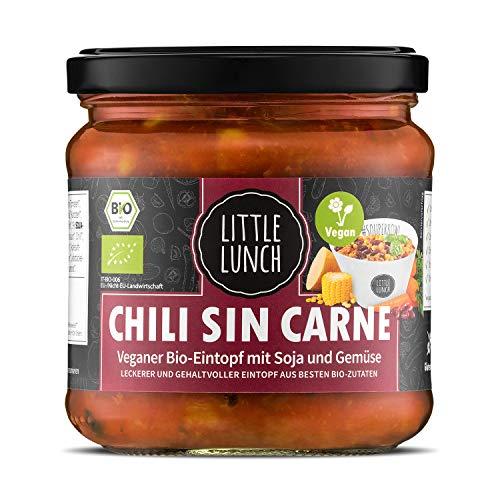 Little Lunch Bio Eintopf Chili Sin Carne | 350ml | 100% Bio-Qualität | Vegan | Glutenfrei | Laktosefrei | Ohne zugesetzten Zucker | Keine künstlichen Zusätze | Ohne Geschmacksverstärker