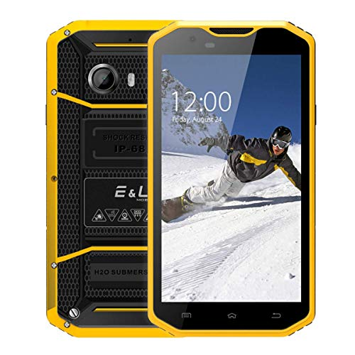 EL W8 Rugged Phone - 4G, 5.5 Inch, Android 6.0, Octa Core, 2GB RAM, 16GB ROM, IP68 Waterproof, 8.0MP Rear Camera - Yellow