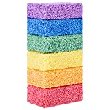 Funny Poop Floam Slime Clay 6 Blocks with 6 Colors Modeling Foam Beads Play Kit for Kids Educational Magic Clay DIY Art Crafts Never Dries Out Preschool Toys Motor Skills