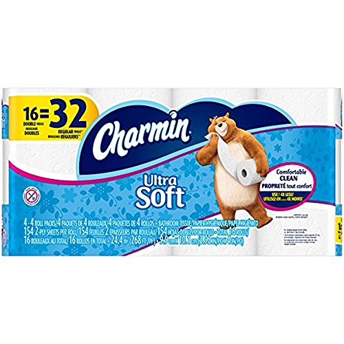 Charmin Ultra Soft Bathroom Tissue, 154 Sheets Per Roll, 16 Double Rolls