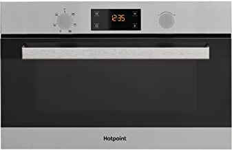 Hotpoint MD 344 IX HA Integrado - Microondas (Integrado, Microondas combinado, 31 L, 1000 W, Botones, Giratorio, Acero inoxidable)