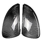 Kuan Golf 7 Außenspiegel Cap, 1 Paar Carbon-Faser-Spiegel-Abdeckung mit Glossy Black Mirror Bezug-Set für direkten Ersatz für Golf MK7 MK7.5 13-18 Golf 7 Ect.