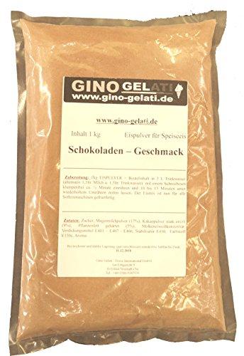 Schoko Geschmack 1 Kg Dänisches Softeis Gino Gelati Eispulver Softeispulver Speiseeispulver