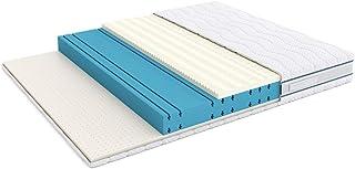 Marca Amazon -Alkove - Colchón de triple espuma viscoelástica y látex de doble cara con funda extraíble Sanitized® 180 x...