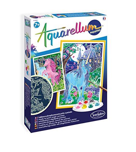 Sentosphère-Aquarellum Fluorescente Unicornios, Color Unise