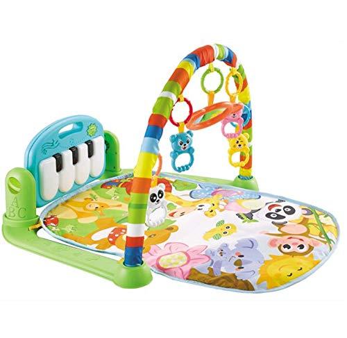 Gimnasio Piano Pataditas para Bebé, Marbeine Manta de Juego Musical Estante De Fitness con Pedal De Música Alfombra de Aprendizaje (Estilo B-Verde)