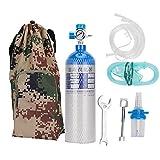 xianshi bombola di ossigeno, set di bombole per bombole di ossigeno portatile professionale da 2 litri con zaino per il trasporto per la casa all'aperto(2l)