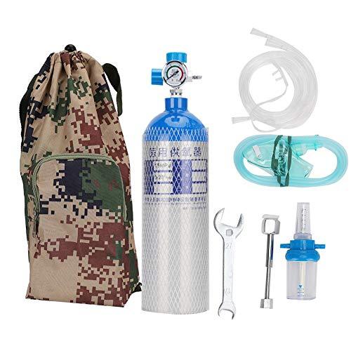 Focket Sauerstoffflasche, 2L Professional Tragbares, Leichtes Sauerstofftankflaschen-Set mit Rucksack, Ungiftig, Umweltfreundlich und Sicher für den Außenbereich(2L)