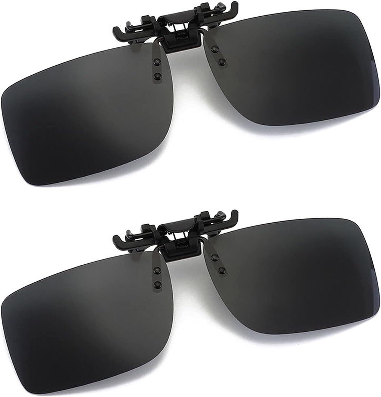 Clip para gafas de sol polarizadas fotocromáticas Gafas de conducción antideslumbrantes UV400 para hombres, mujeres, aclarando la visión. Ideal para conducir viajes de pesca deportiva