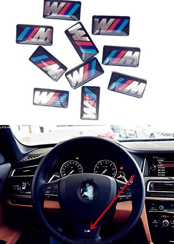 Self-Adhesive M Sport BADGE STICKER EMBLEM Fits B M W Cars with M Power Performance M-Sport 3D Sticker M 1 3 5 X1 X3 X5 X6 GT(10 Pcs)