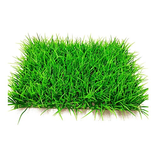 PING- Artificial Hedge Hedge Plate Plant Wall, PE Pile 12cm High Encrypted 308 Grass Large Seedlings Wall Roof Garden Decoration 40x60cm / Pack (Color : 1pack)