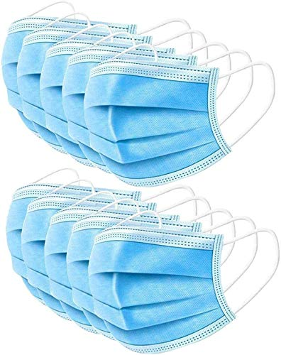 50 Pcs Industrial mask, blue disposable masks,personal Protection Dust-proof Anti Spittle Eye masks For Earloop
