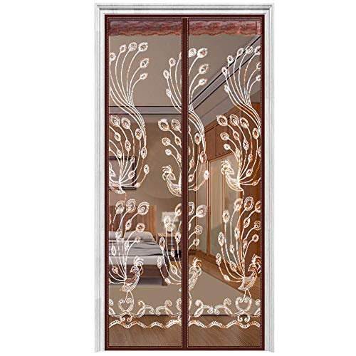 AIFENTE Magnetic Screen Door with Heavy Duty Mesh Curtain Screen Doors with Magnets Fits Doors up to 35x 82 Inches