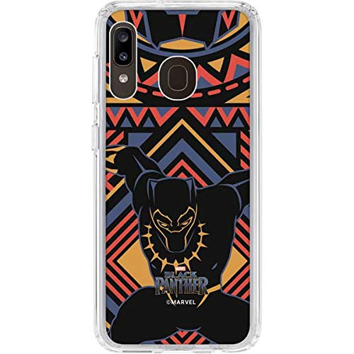 Skinit Clear Phone Case Compatible with Galaxy A20 - Officially Licensed Marvel/Disney Black Panther Tribal Print Design