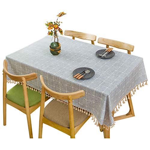 WCPQT Impermeable Sin Arrugas Borla Mantel,Lavable Prueba De Polvo Decorativo Mantel Mesa,para Restaurante Mesa