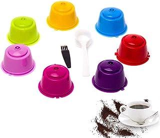 Capsules de café réutilisables rechargeables AUOKER pour le filtre-machine Nescafé Dolce Gusto, paquet de 7 tasses colorée...