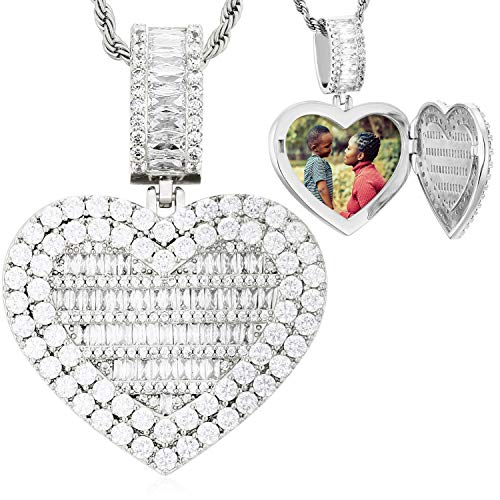 Heart Locket Necklace That Holds Pi…