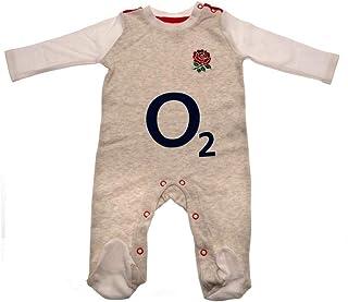 ラグビー イングランド代表 England R.F.U. オフィシャル商品 赤ちゃん・ベビー用 長袖 ボディースーツ ロンパース